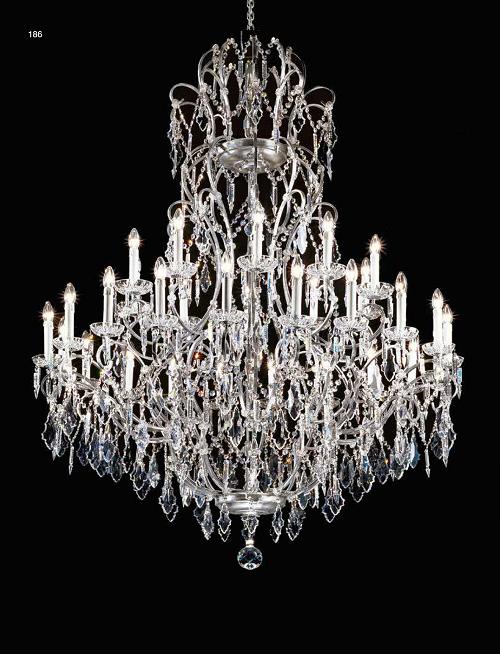 Kronleuchter Kristall Silber